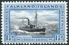 FALKLAND ISLANDS-1933 Centenary 1½d Black & Blue Sg 129 MOUNTED MINT V31027