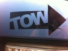 """TOW"" TOWING EYE FUNNY STICKER CLIO, PUG,SAXO,206-JDM STANCE DRIFT VW DUB FOCUS"