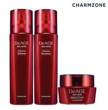 DeAge Red-Wine Intense Package Softener 120ml Emulsion 120ml Cream 50ml K-Beauty