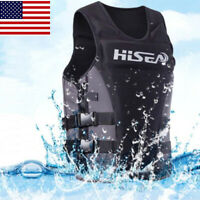 50N Adult Life Jacket Neoprene PFD kayak fishing Boating Sail Safety Vest XS-3XL