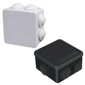 WEATHERPROOF JUNCTION BOX ADAPTABLE PLASTIC ELECTRICAL CABLE CONNECTOR OUTDOOR