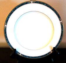 Noritake Essex Court Dinner Plate x1 Teal Marbled Band Gold Verge & Trim