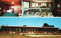 Vintage Postcard Motel Barbu Dining Room Wayne and Ypsilanti MI Michigan