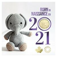 Baby 5-Coin Gift Card Set (2021) $2, 25¢, 10¢, 5¢ & Special $1  -  [In-Stock]
