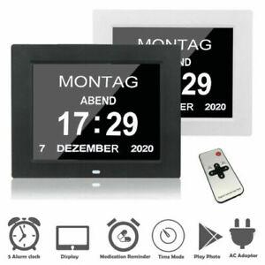 7 '' LED Demenz Digitale Kalenderuhr Extra großer Tag / Woche / Monat / Jahr DE