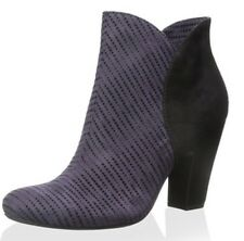 Nicole CeCe Purple Suede Scalloped Shaft Ankle Boot Size 8.5 New