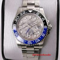 40mm BLIGER gray dial GMT ceramic bezel sapphire glass automatic mens watch B332