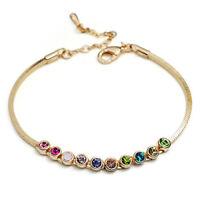Colourful/Multicoloured Crystals Rose Bracelet/RGB086