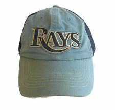 TAMPA BAY RAYS Baseball Hat Cap Distressed Blue Mesh '47 TWINS OFSA Vintage Look