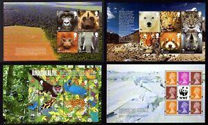 Choose ONE OR MORE MNH DX52 WORLD WILDLIFE FUND Prestige Booklet Pane WWF