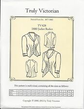 Schnittmuster Truly Victorian TV 428: 1880 Jacket Bodice