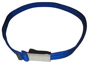 RLX Ralph Lauren Polo Neon Blue Nylon Slide Buckle Golf Belt Medium