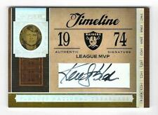 Ken Stabler 2006 NATIONAL TREASURES SP AUTOGRAPH CARD /7 SIGNED Raiders HOF AUTO