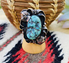 Vintage Navajo Sterling Silver & Turquoise Ring Size 7
