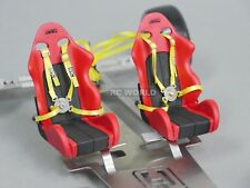 RC 1/10 Scale Accessories 4 POINT RACING HARNESS SEAT BELT STRAPS Drift ORANGE