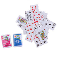 1:12 Miniature Games Poker Mini Dollhouse Playing Cards For Dolls Accessory UL!Y