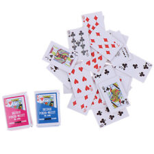 1:12 Miniature Games Poker Mini Dollhouse Playing Cards For Dolls Accessory Us