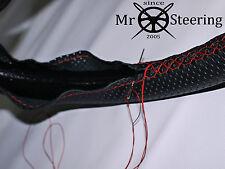 Para DACIA LOGAN I 04-12 Cubierta del Volante Cuero Perforado Rojo Doble Stich