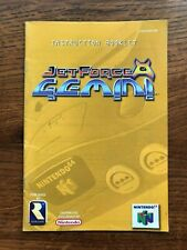 Jet Force Gemini N64 Nintendo 64 Instruction Manual Only
