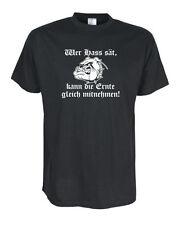 Wer Hass sät, kann.. T-Shirt, Funshirts, große Größen und Übergrößen (UGRBL018)