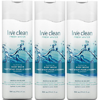 Live Clean Fresh Water Hydrating Body Wash, 17 Fluid Ounce (3 Pack)
