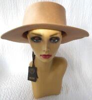 Mossant Paris 100% Wool Light Brown Tan Hat Nwt