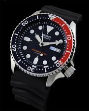 NEW SEIKO 200M DIVER'S AUTOMATIC 21 JEWELS PEPSI BEZEL SPORTS WATCH SKX009J1
