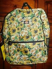 Dickies Flower Power Yellow Backpack Bag Brand New