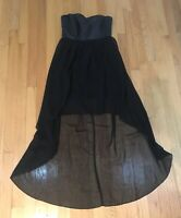 L'ATISTE BY AMY Strapless black long dress Gown Beautiful Size Medium Ladies