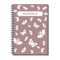Cherry Butterflies & Bees Address Book A5 120gsm 52 double sided pages Wirobound