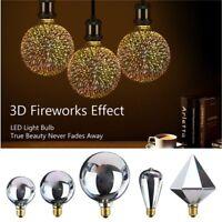 3D Fireworks E27 G80/G95/G125 LED Retro Vintage Edison Fairy Lighting Bulb Lamp