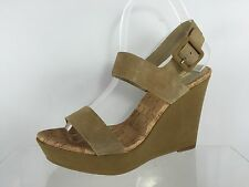 14th & Union Womens Beige Leather Wedges 9 M