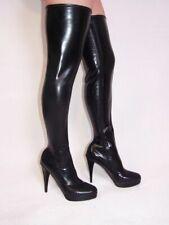 Promotion ! Stiefel latex gummi schwarz 43 Fetisch Domina sexy Polen Bolingier