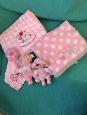 Lot Of 5 Baby Girl Carter Blankets/Taggies Doll/my1st Dolly Gund/Security Blanky