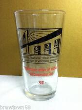 UWM Madison 2001 pint beer drink glass Construction Engineering MGT pub bar LX8