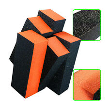 2 X Orange Nail Art Shiner Buffer Buffing Block Sanding File Manicure Tips