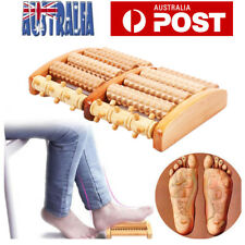 Wooden Foot Massager Roller Relieve Plantar Fasciitis Acupressure Massage Tool