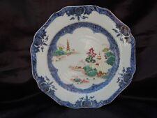 Assiette octogonale porcelaine compagnie des indes decor palais 18ème