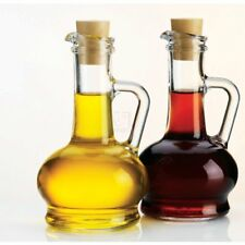 oil vinegar bottle glass dispenser cork lids 2pc set home essentials 8oz 240ml