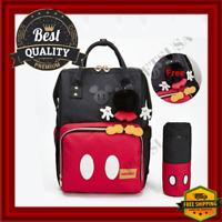 Baby Diaper Bag Backpack Tote For Girl/Boy Large Black/Red Waterproof Organizer