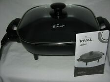 Rival 11-Inch Nonstick Square Electric Skillet Model S11P Black Immersible