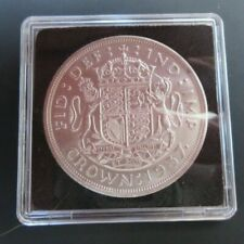 More details for 1937 king george vi bare head 1 silver crown ref spink 4078 cc2 royal mint