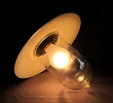 Lampe Industrielle Usine Loft Cave Tôle émaillée Verte Bauhaus Globe Verre