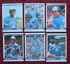 1984 Fleer Toronto Blue Jays Baseball Team Set (25 Cards) ~ Tony Fernandez RC +