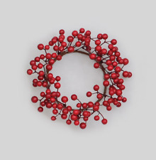 New Large 20cm Candle Ring Christmas Decoration Naked 'Red Berry'