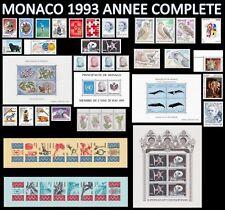 MONACO 1993 ANNEE COMPLETE Neuve** avec ses 4 Blocs dont Europa & ses 2 Carnets