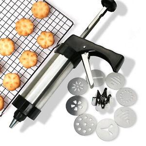 Cookie Press Machine Biscuit Maker Cake Making Decorating Gun Kitchen Tools Set