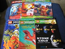 Lot 6 Books Lego NINJAGO Master of Sinjitzu