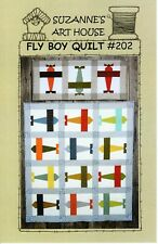 "Fly Boy Quilt Pattern by Suzanne's Are House 49"" X 43"" and 16"" X 37"""