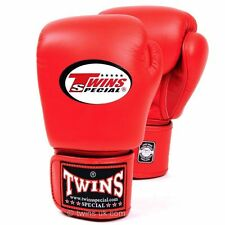 Twins Boxing Gloves Adult Red MuayThai Kickboxing Sparring Gloves 10 12 14 16